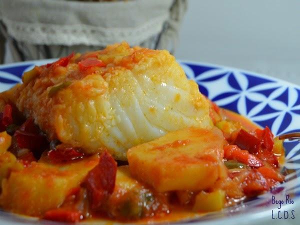 La cocina de samira bacalao al horno con verduras y patatas for Cocina bacalao con patatas