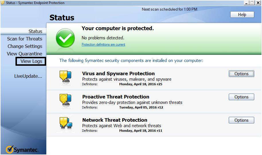 SEPM Offline virus definition update