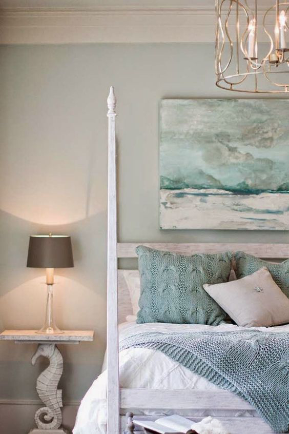 Coastal style colour inspiration seafoam sand for Coastal bedroom design