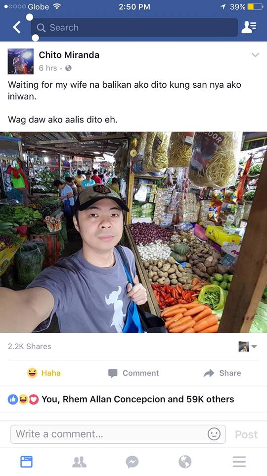 Chito Miranda Lost His Temper and Snapped at a Netizen Who Bashed Him for Waiting for His Wife: 'T*nga amp*ta!'