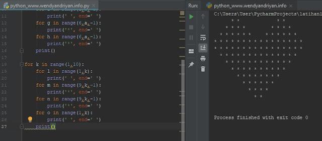 Hasil Kodingan Membuat Love Dengan Python