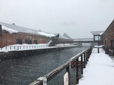 函館ベイエリアの赤レンガ倉庫
