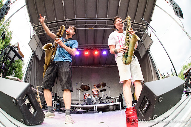 Moon Hooch at Riverfest Elora 2018 at Bissell Park on August 18, 2018 Photo by John Ordean at One In Ten Words oneintenwords.com toronto indie alternative live music blog concert photography pictures photos