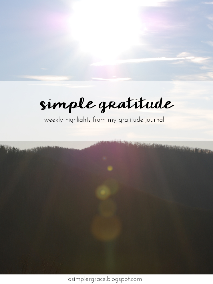 Sharing my #gratefulheart Simple Gratitude | 54 - A Simpler Grace #gratitude #feelingthankful