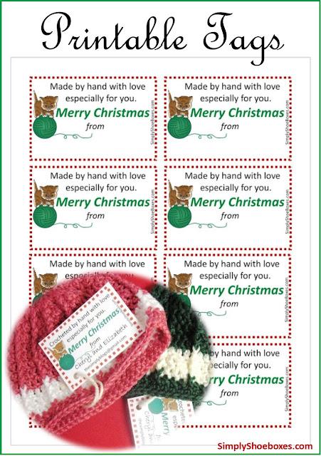 Merry Christmas hand made with love free printable tags.