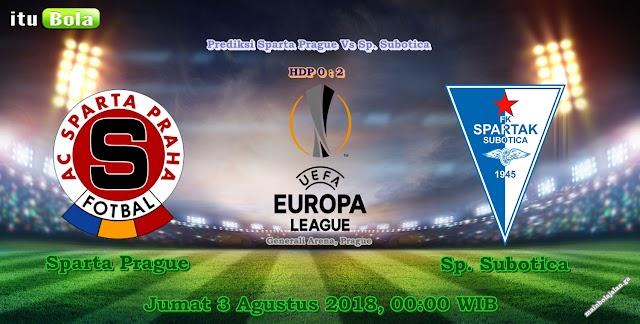 Prediksi Sparta Prague Vs Sp. Subotica - ituBola