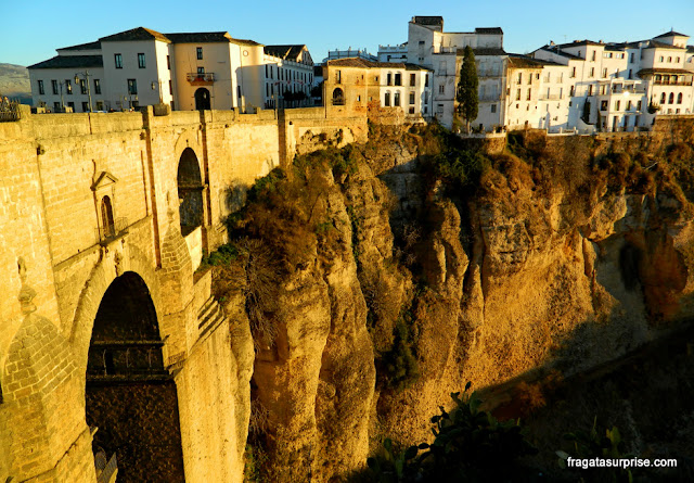 Ponte Nova sobre o Desfiladeiro do Tajo, em Ronda, Andaluzia
