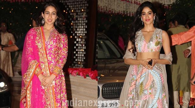 janhavi kapoor and sara ali khan, who is looking beautiful