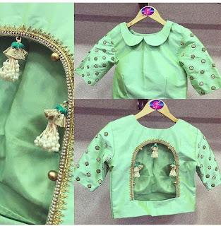designer blouse patterns back neck