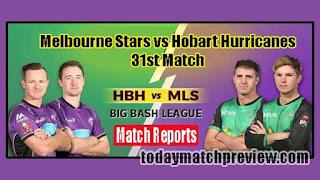Today BBL 31th Match Prediction Melbourne Stars vs Hobart Huricanes