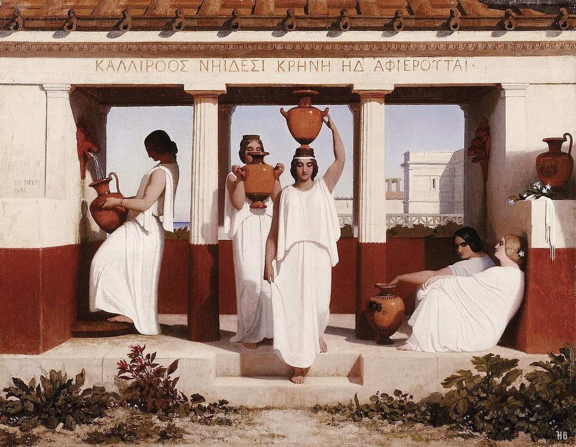 French Painters Dominique Louis Papety Greek Women At The