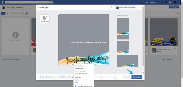 Mengatur Hasil Bingkai Profil Facebook