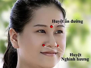 Massage chữa viêm mũi dị ứng vào mùa lạnh