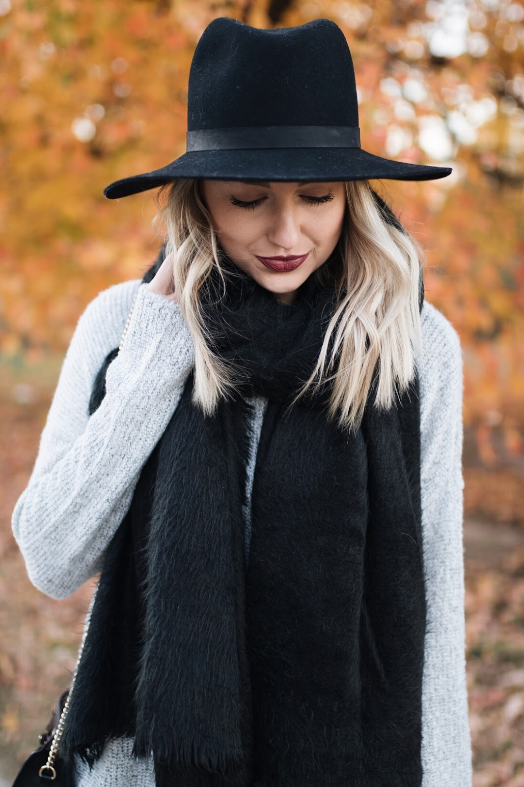 Oversized black scarf