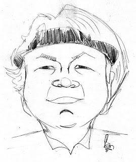 Laura Davies Caricature Sketch by Ian Davy Brown