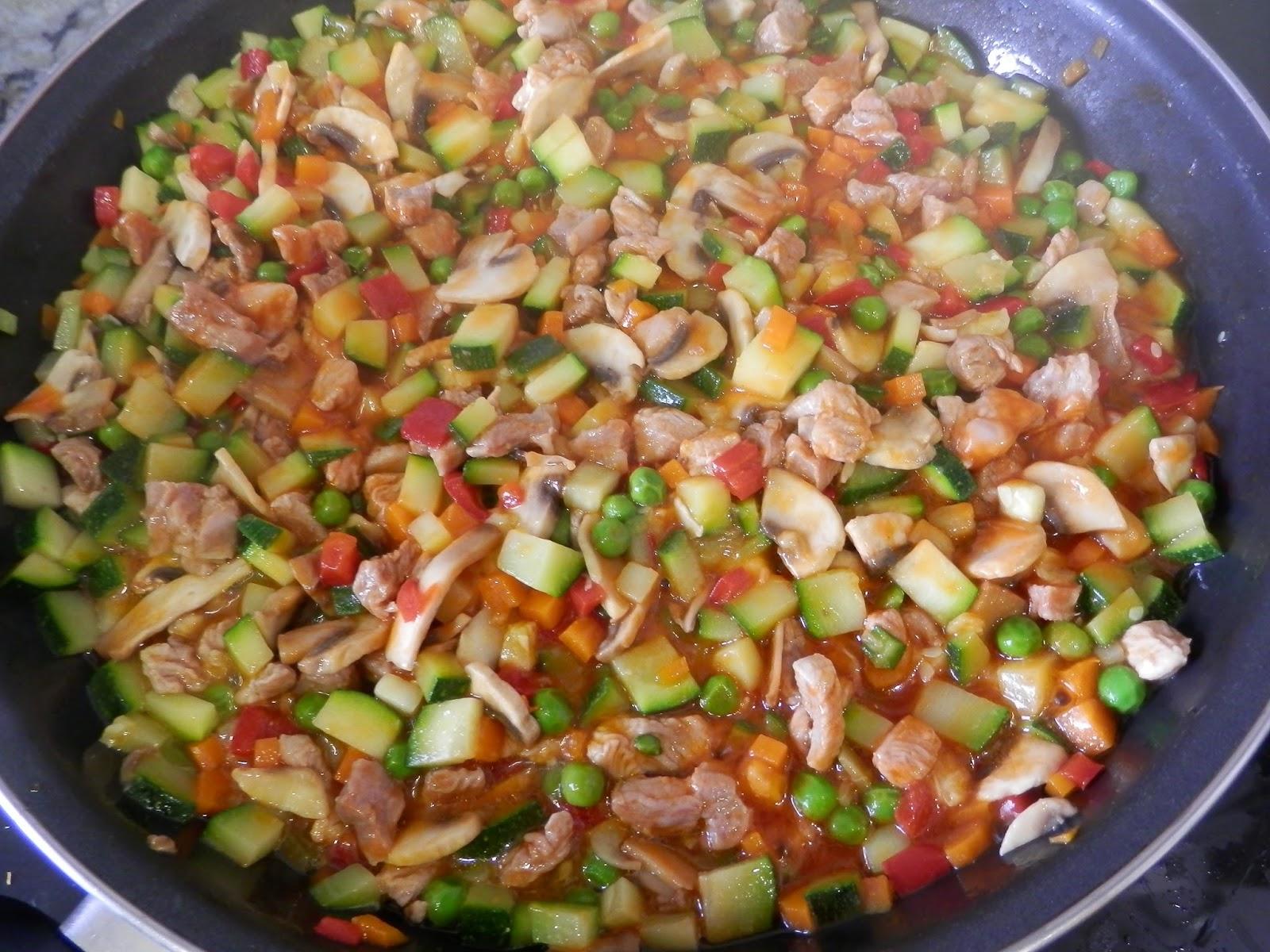 Arroz con pavo y verduritas - Arroz con verduras light ...