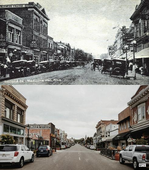 Medicine Hat Alberta Then Now