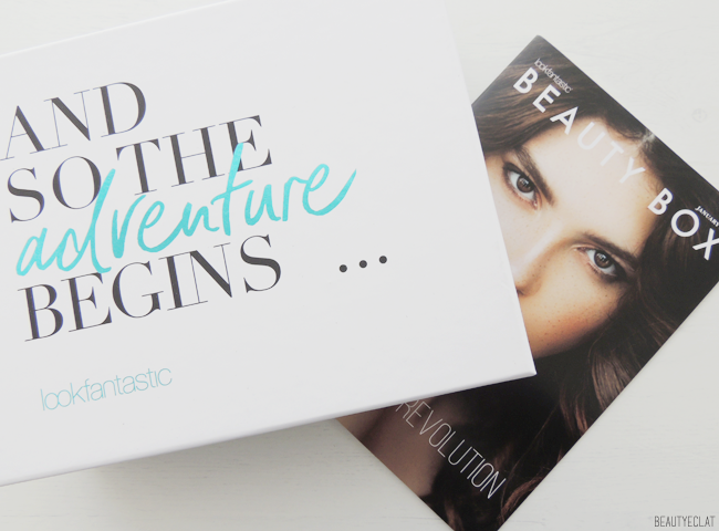 Lookfantastic Beauty box janvier 2017 and so the adventure begins revue avis test