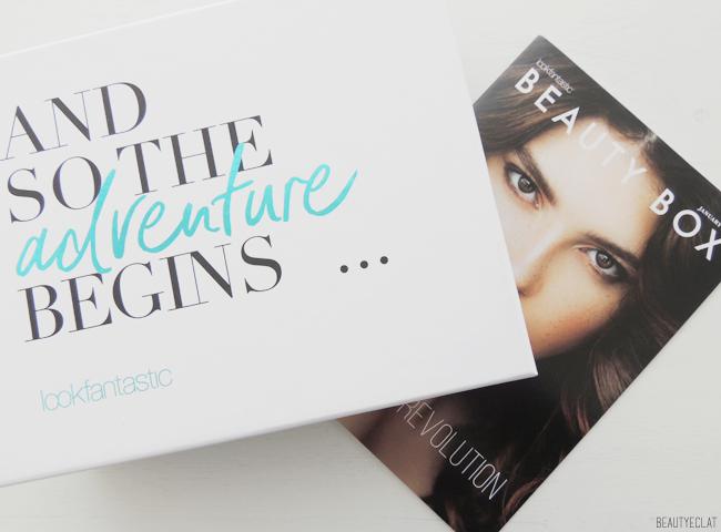 Lookfantastic Beauty box janvier 2017 and so the adventure begins revue avis test