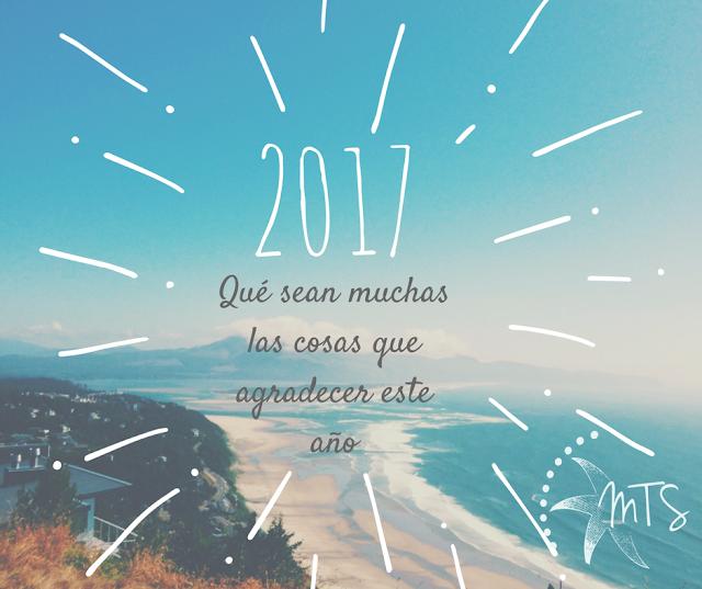 Cartel de feliz año 2017