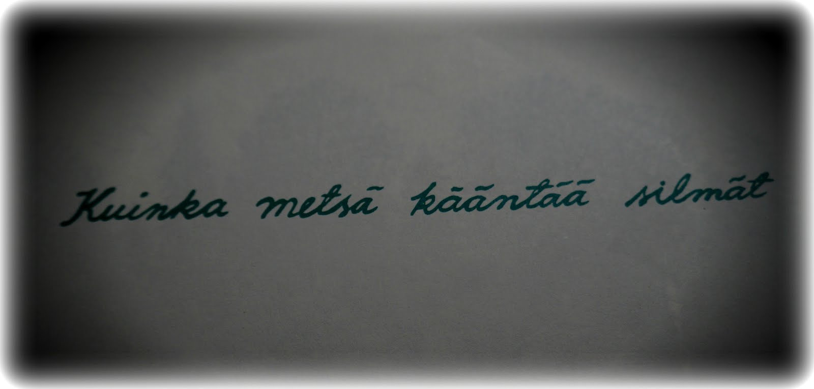 Metsänpeitto ~ link to my FB