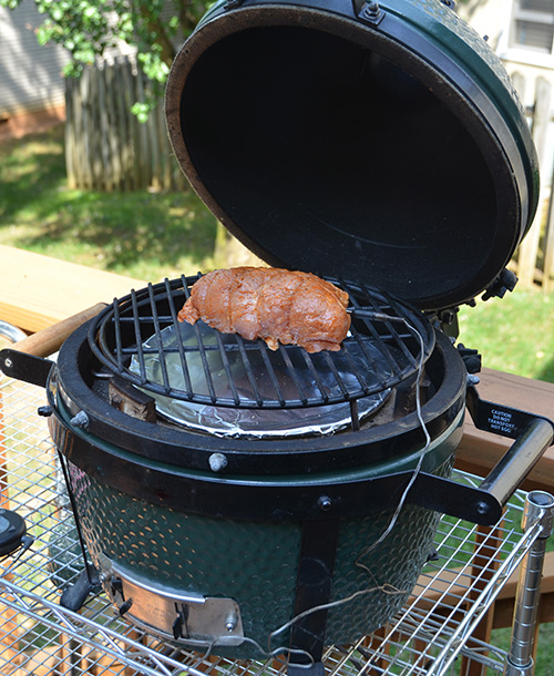 Smithfield Fresh Marinated Pork on a Big Green Egg Mini-Max Kamado grill #realflavorrealfast