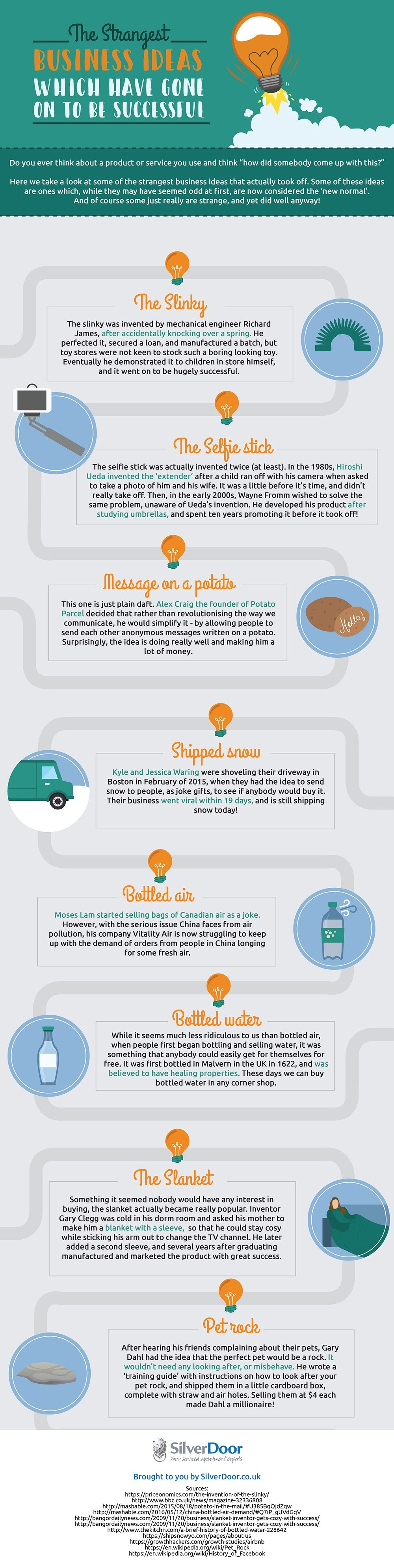 The Strangest Business Ideas Which Have Gone On To Be Successful - #Infographic