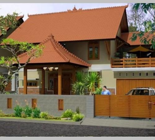 desain rumah dengan teras atap joglo