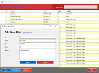 CRUD (add,update,delete) Operations ADO.NET