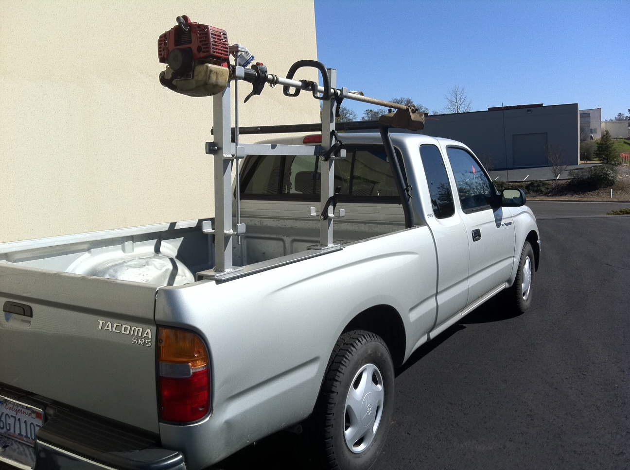 Rack-it Truck Racks: Custom Trimmer Rack Is A Handy Helper