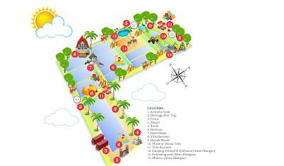 Denah Lokasi Taman Air Percut