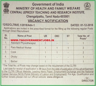 CLTRI-recruitments-tngovernmentjobs-in