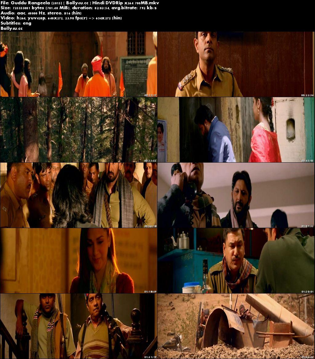 Guddu Rangeela 2015 DVDRip 700MB Full Hindi Movie Download x264