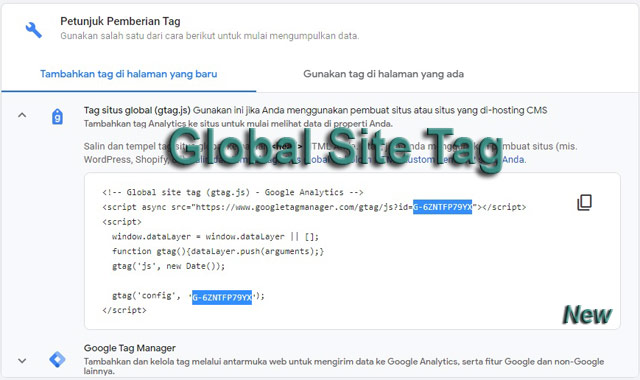 New gtag.js (Global site tag)