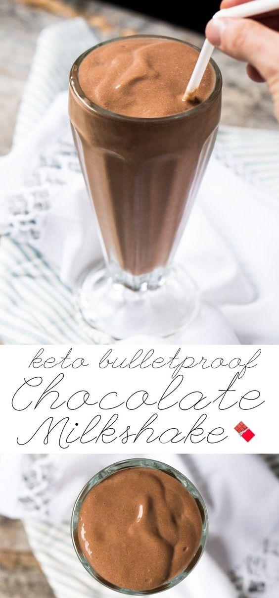 Breakfast Paleo & Keto Bulletproof Chocolate Milkshake