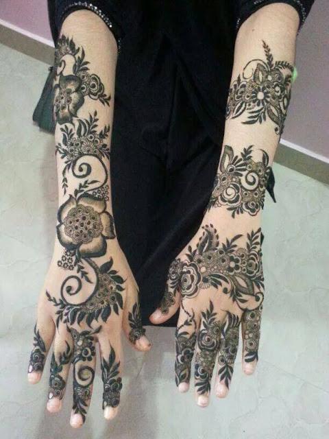 Floral Arabic Mehndi