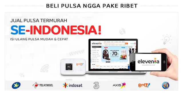 Beli pulsa termurah se-Indonesia hanya di Elevenia