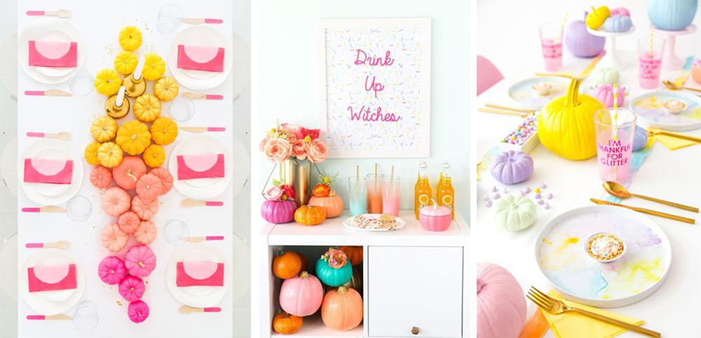 como decorar mesa acción de gracias o thanksgiving con calabazas de colores diy fácil y económico