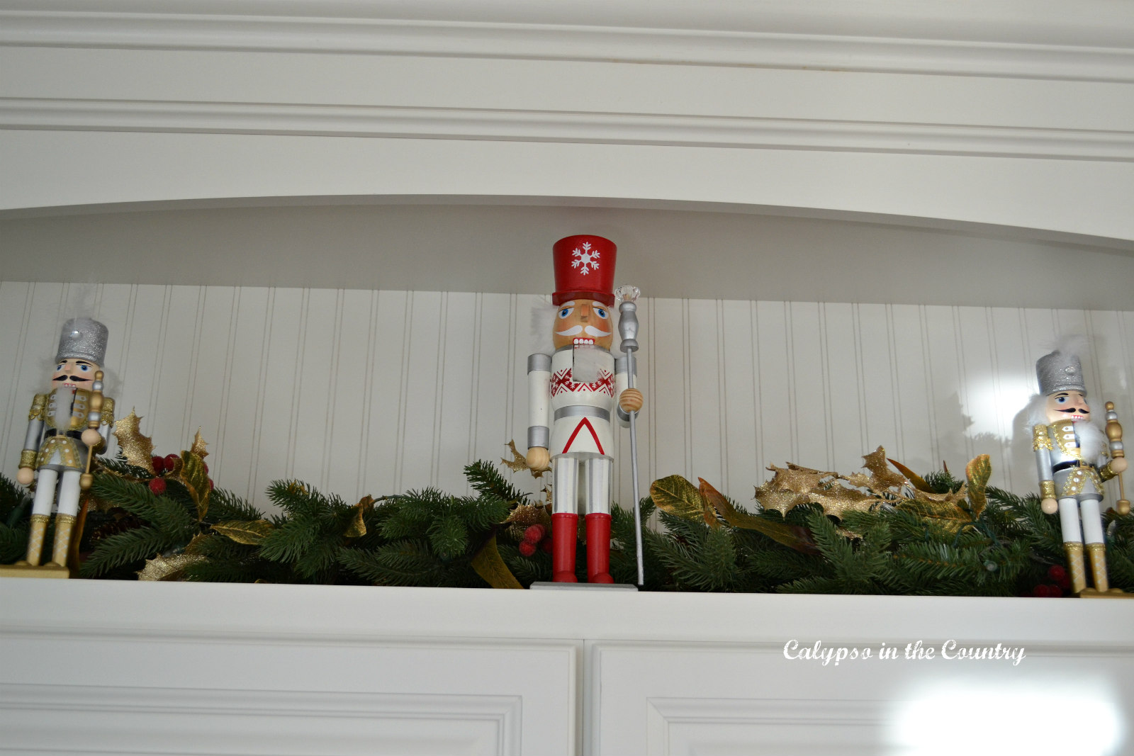 Nutcrackers in Kitchen for Christmas