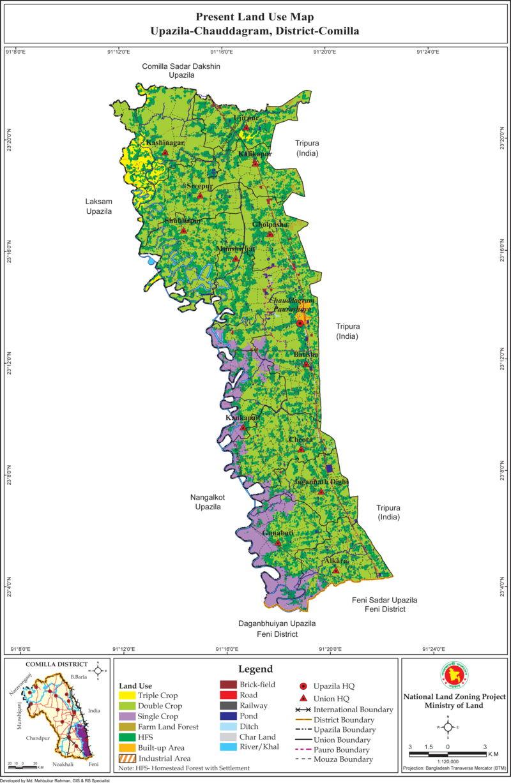 Chauddagram Upazila Mouza Map Comilla District Bangladesh