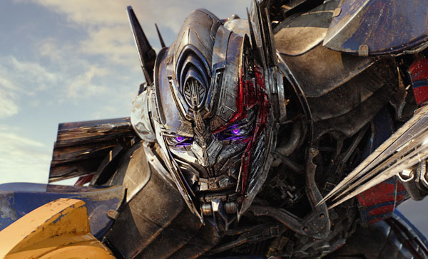 Optimus Prime (voiced by Peter Cullen) gone bad in TRANSFORMERS: THE LAST KNIGHT (2017)