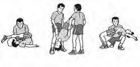cara senam lantai yang aman dengan di bantu teman sebelum