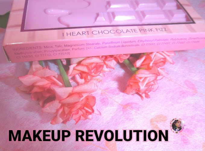 Review and Swatch Makeup Revolution I Heart Chocolate - Pink Fizz