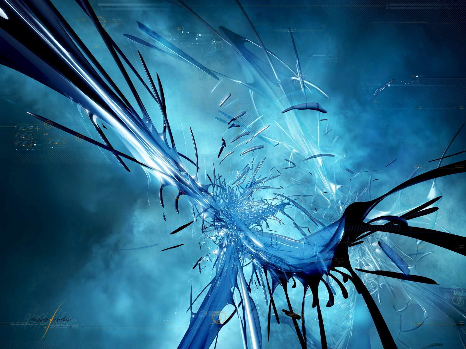 awesome artwork 3d blue wallpaper - photo #20