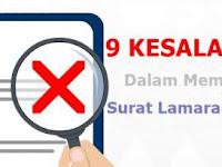 Hindari 9 Kesalahan Fatal Dalam Membuat Surat Lamaran Kerja