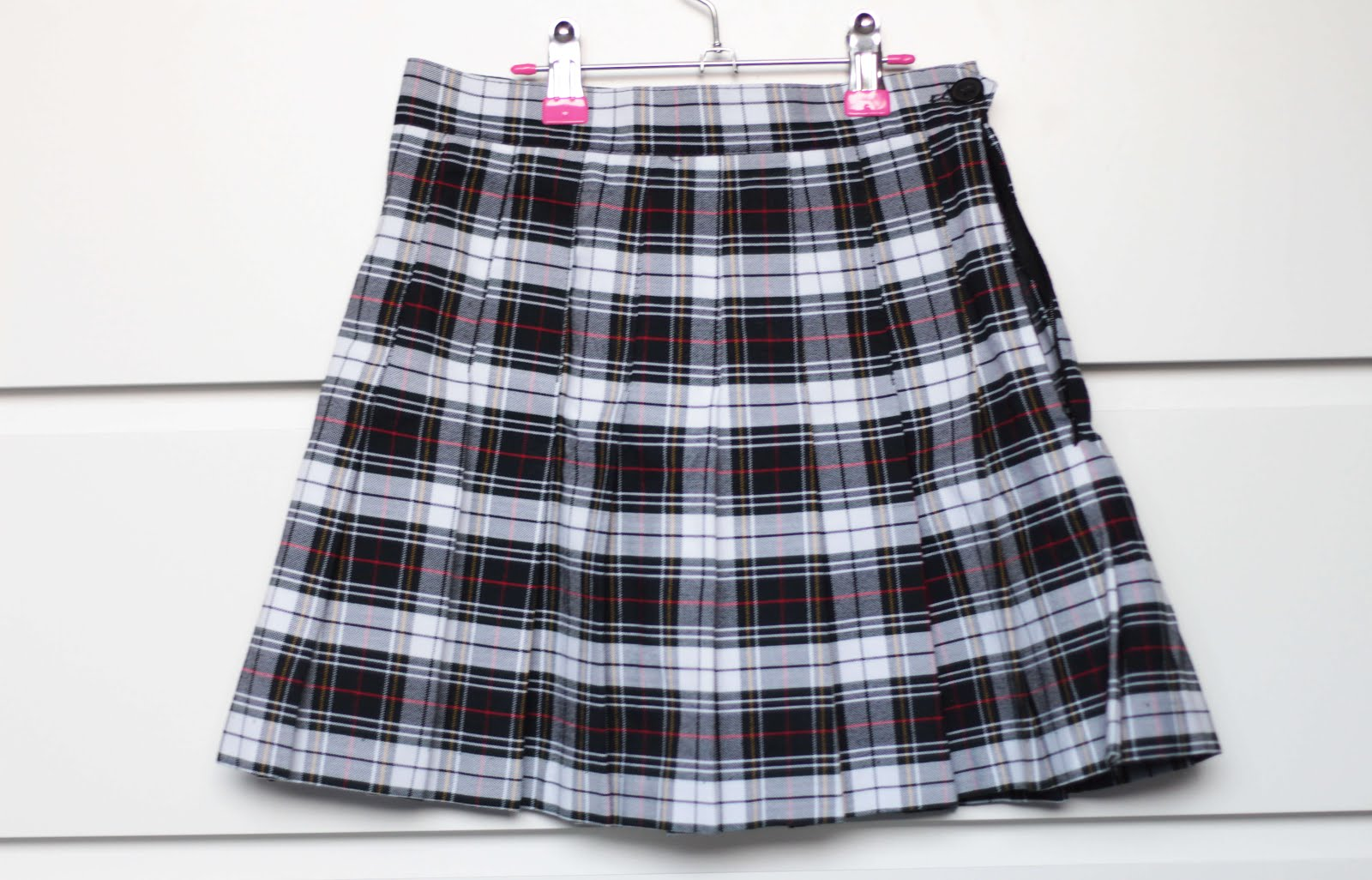 american apparel uk black check tennis skirt
