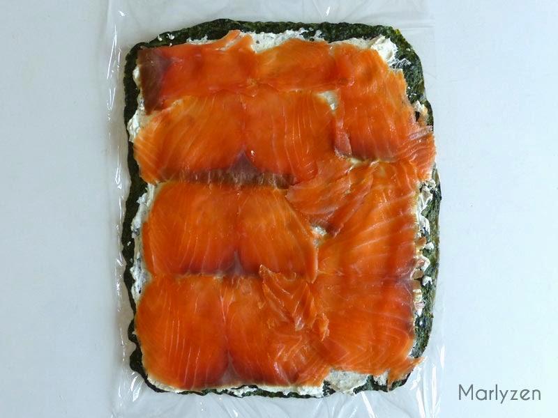 Déposez les tranches de saumon par-dessus.
