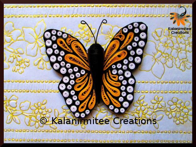 kalanirmitee: paper quilling- quilled insects- quilled butterflies- quilled magnets