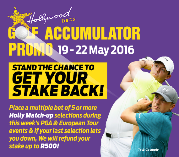 Hollywoodbets Golf Accumulator Promotion - Stand the Chance to get your stake back on PGA and European Tours
