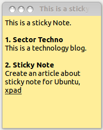 Sticky Notes app for Ubuntu